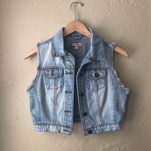 Denim cutoff jacket